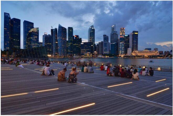 Singapore, Marina Bay, late afternoon