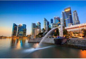 The Merlion Singapore Fountain Singapore